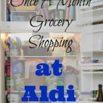 Once A Month Grocery Shopping at ALDI – $64 Grocery Budget Challenge