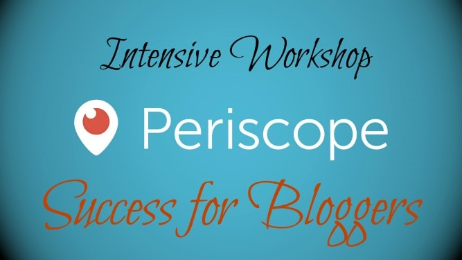Periscope Success for Bloggers Workshop is an intensive class dedicated to equipping bloggers with action plans, customized editorial calendars, and consistent motivation to build their platform, and income, through their Periscope account.