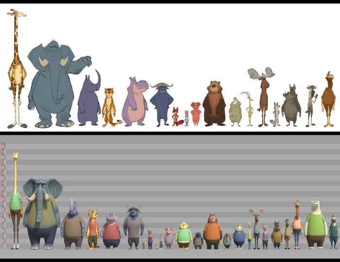Learn more about the character creation of the Zootopia cast, and why scale was so important within this animated world.