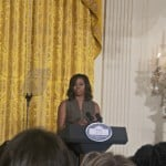 First Lady Michelle Obama Talks Let's Move! with Bloggers