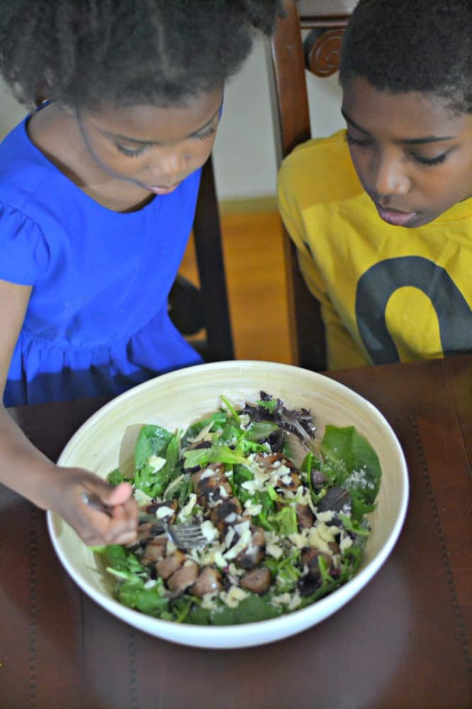 This Beer Bratwurst Salad is so easy and perfect for grilling season! #SausageFamily #sponsored