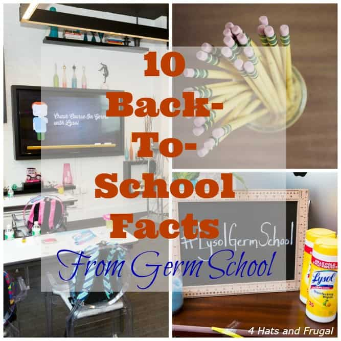 Back-to-school time is here! These are 10 back-to-school facts that I learned during my time at #LysolGermSchool. #sponsored