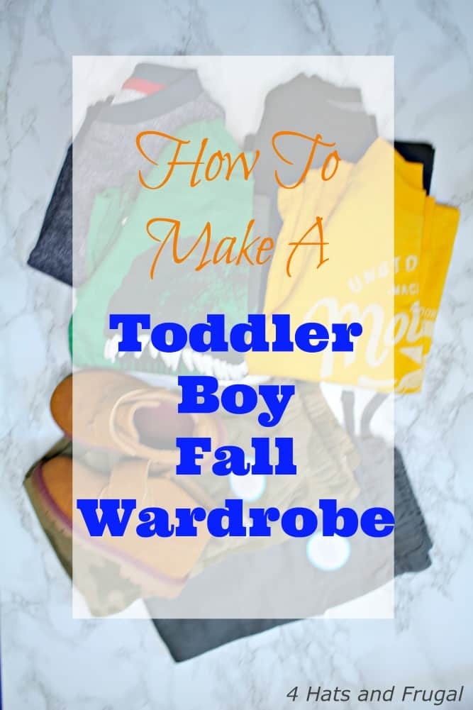 How to make a toddler boy fall wardrobe, on a budget. #sponsored