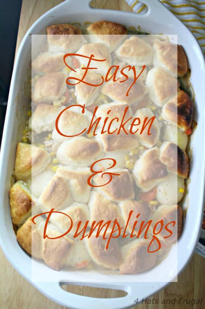 Looking for a meal you can make in under 30 minutes, that your toddler will eat? This Easy Chicken and Dumplings is perfect!