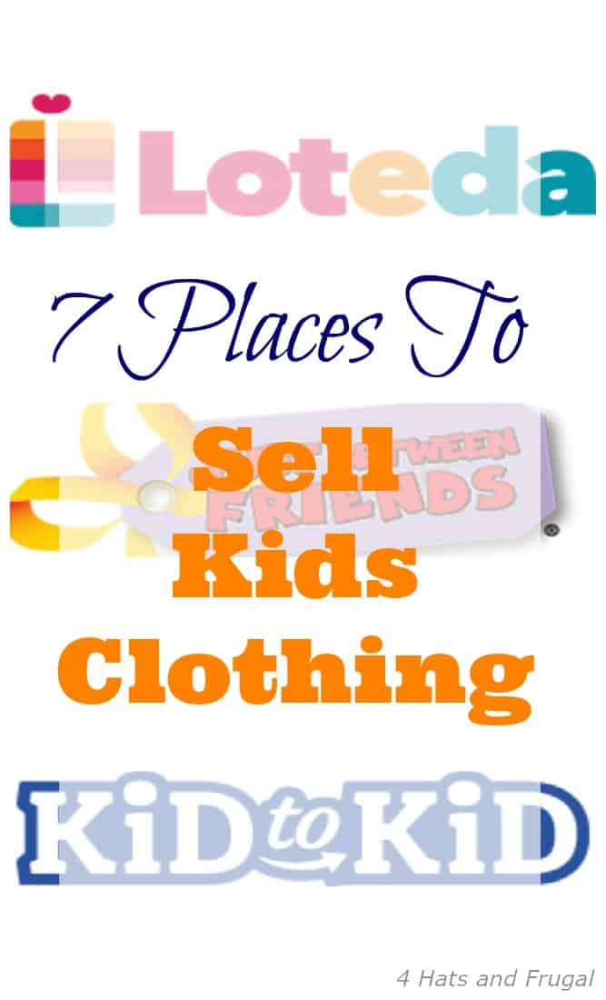 Want to sell kids clothes, and make some extra cash? Check out these 7 places to sell kids clothing.