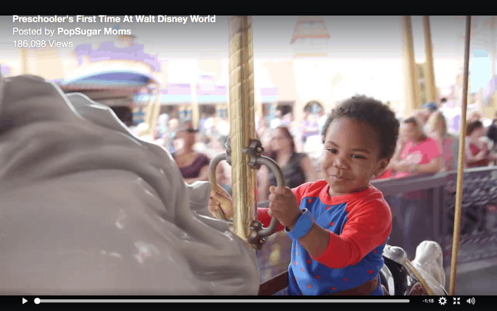 Preschooler at Disney World