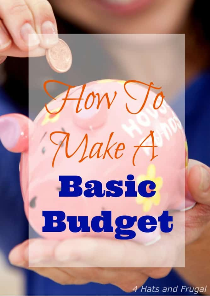 Are you overwhelmed by budgeting? Here's  a simple way to make a basic budget.