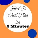 How To Meal Plan In 5 Minutes