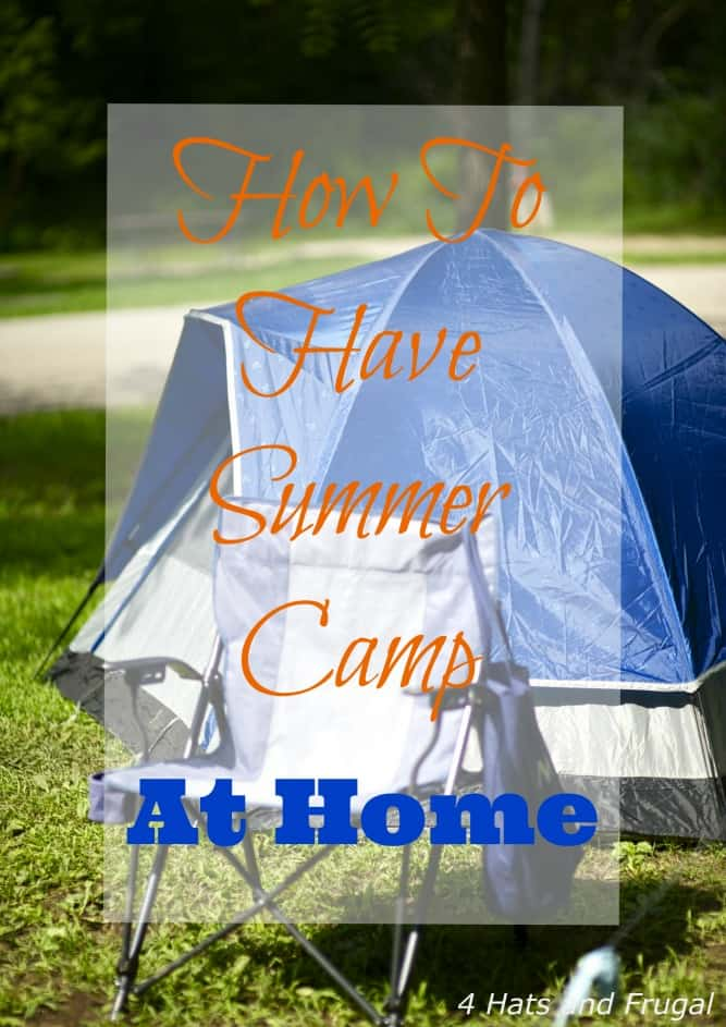 Looking for an inexpensive way to keep the kids busy this summer? Here's how to have summer camp at home.
