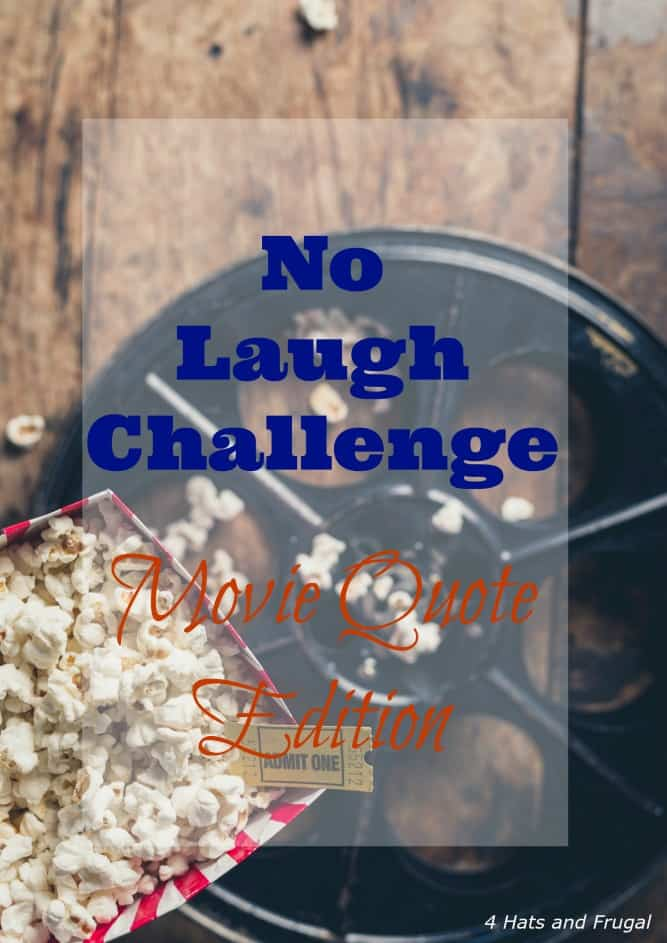 Have you tried the YouTube No Laugh Challenge? This couple did it using funny movie quotes!