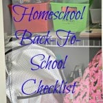 Our Homeschool Back-to-School Checklist