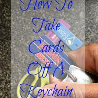 How to take loyalty cards off a keychain