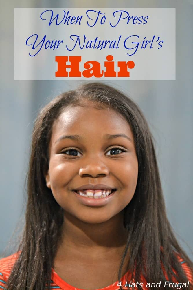 When To Press Your Natural Girl's Hair
