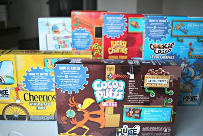 As a fun and easy homeschool STEM project, our family created a simple machine with a General Mills Cereal box! Check out this STEM centered project learn how you could to win a $20,000 scholarship at www.rubecerealmachines.com! #AD