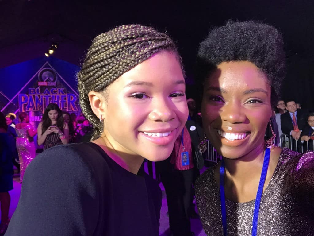 Storm Reid Black Panther Red carpet