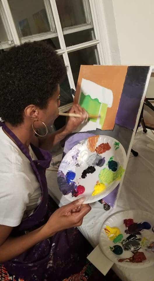 Amiyrah Martin painting