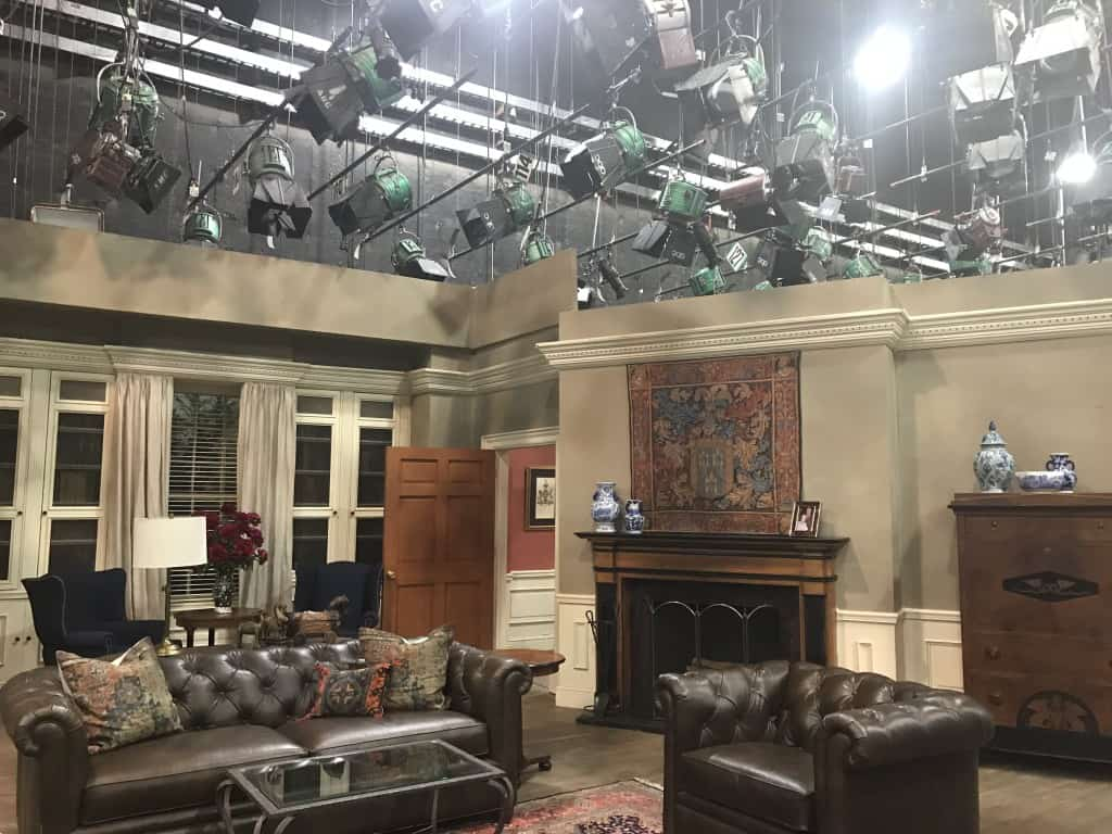 General Hospital set visit Quartermaine house