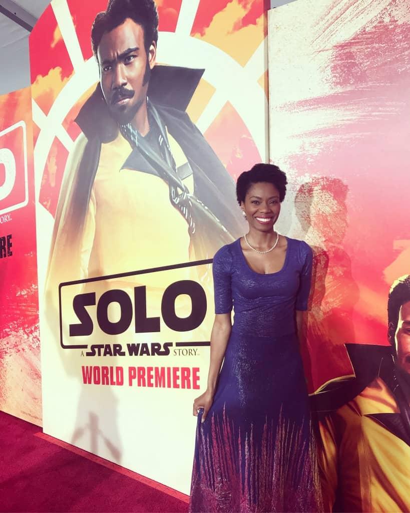 solo a star wars story world premiere Amiyrah Martin