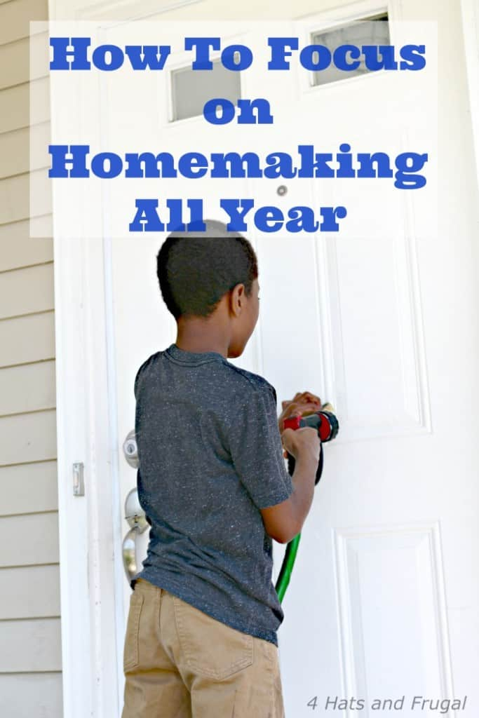 If you're a new home owner, it may be difficult to focus on your big to-do list. Here is an exercise to show you how to focus on homemaking all year, which includes the small projects you may want to accomplish.