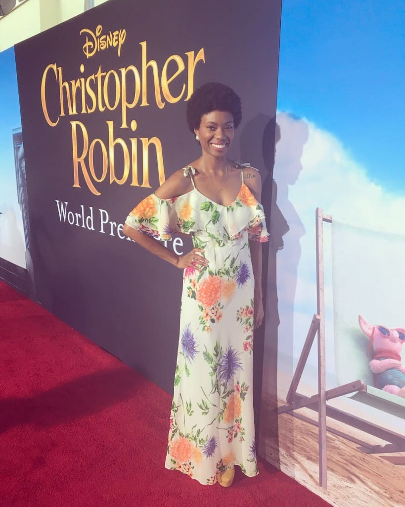 Chistopher Robin premiere Amiyrah Martin