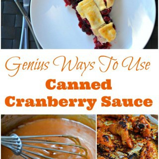 Need to use canned cranberry sauce that's taking over your cupboard? Here are some genius ways to use canned cranberry sauce, that your family is going to LOVE.