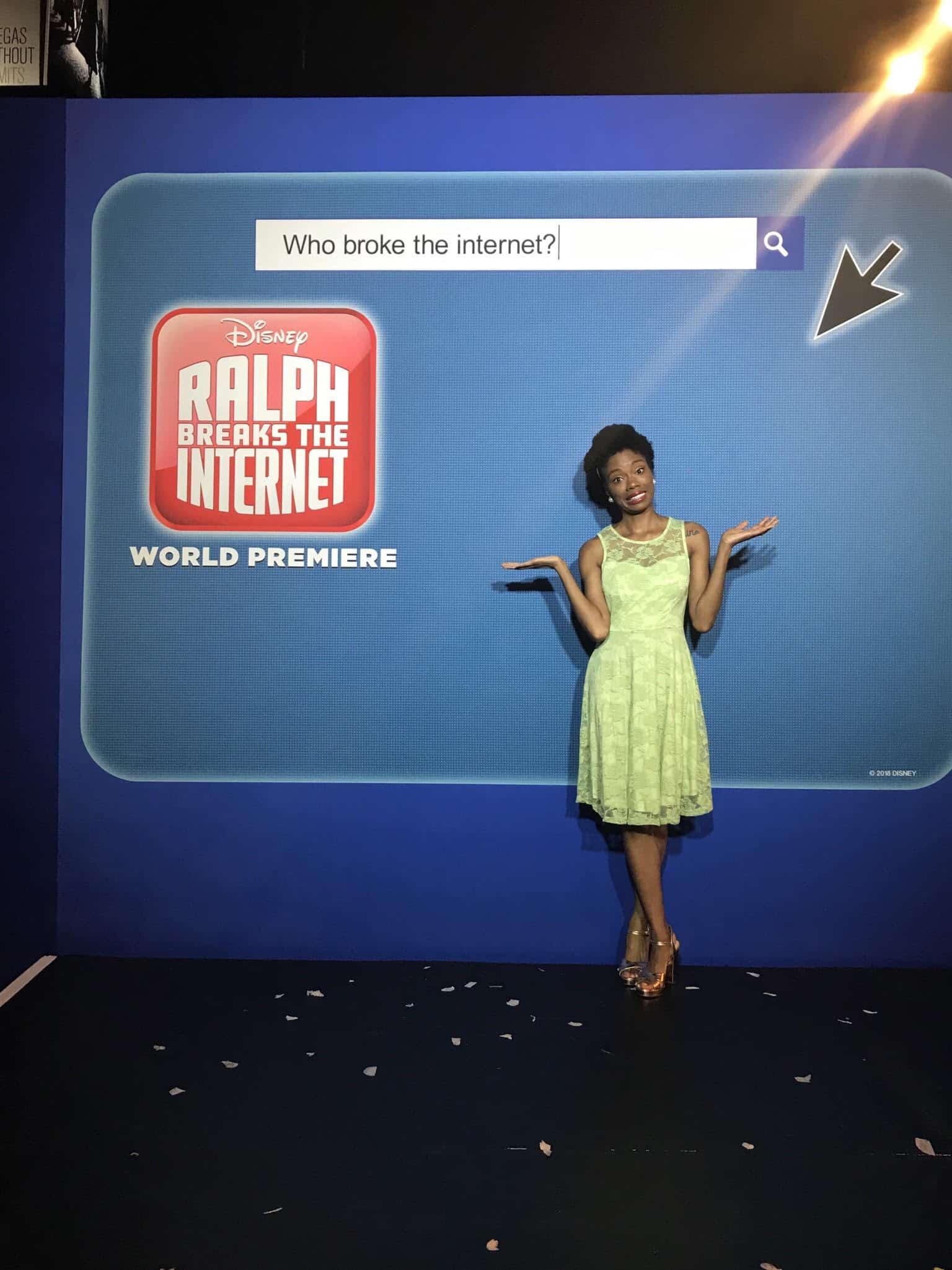 Ralph Breaks The Internet red carpet AmiyrahMartin