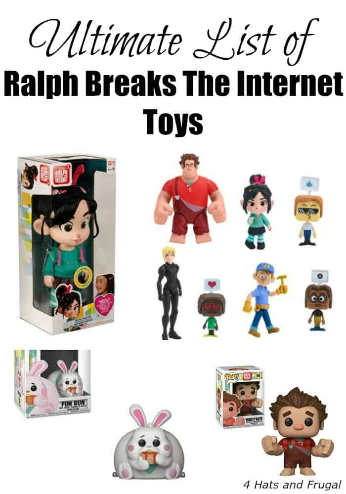 Ultimate List of Ralph Breaks The Internet Toys and Products