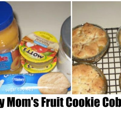 This recipe for lazy mom's fruit cookie cobbler is one you turn to when you want a quick dessert that you know will be a hit with the family.