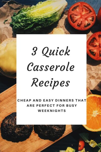 Need a quick dinner for tonight? These are 3 quick casserole recipes that you can create with items right in your pantry.