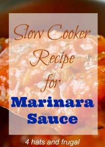 This delicious recipe for slow cooker marinara sauce will save you time and money. Plus, it can be frozen for later use!