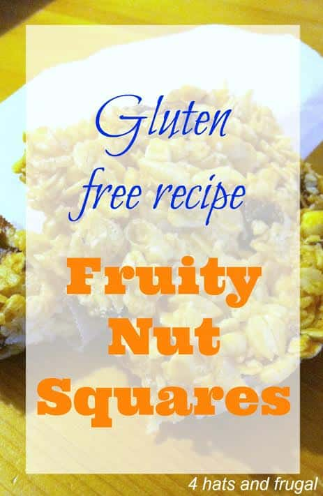 Gluten Free recipe Fruity Nut Squares