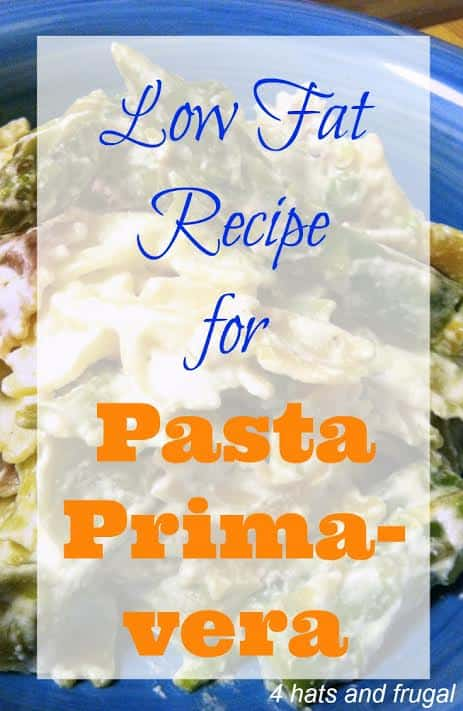 Low Fat Recipe for Pasta Primavera