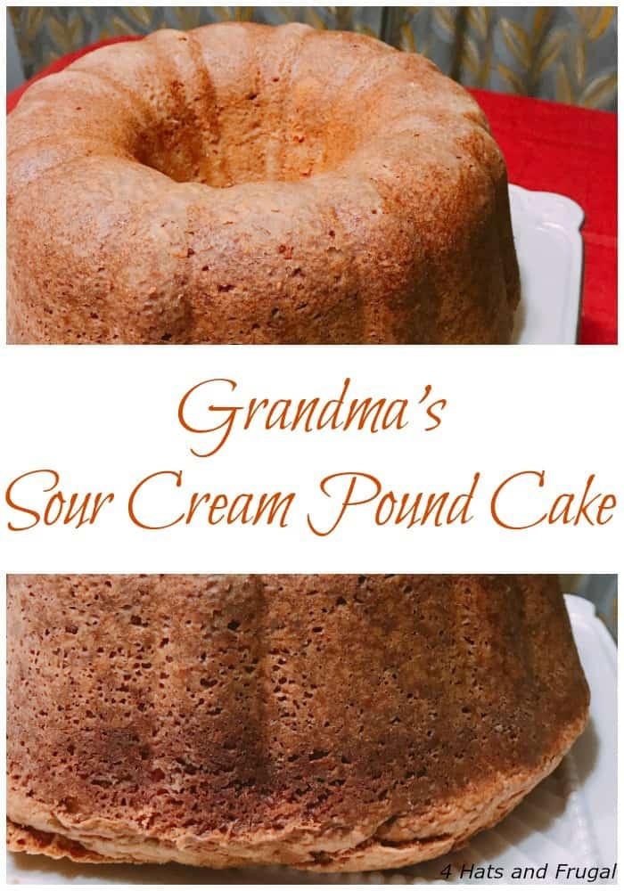 Grandma's Sour Cream Pound Cake recipe