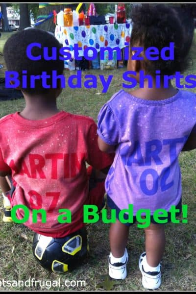 customized t-shirts on a budget, cheap personalized shirts, kids birthday shirts