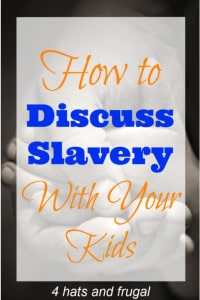 It can be difficult deciding how to discuss slavery with your kids, but this post shares some simple, sincere and genius ways to do so.