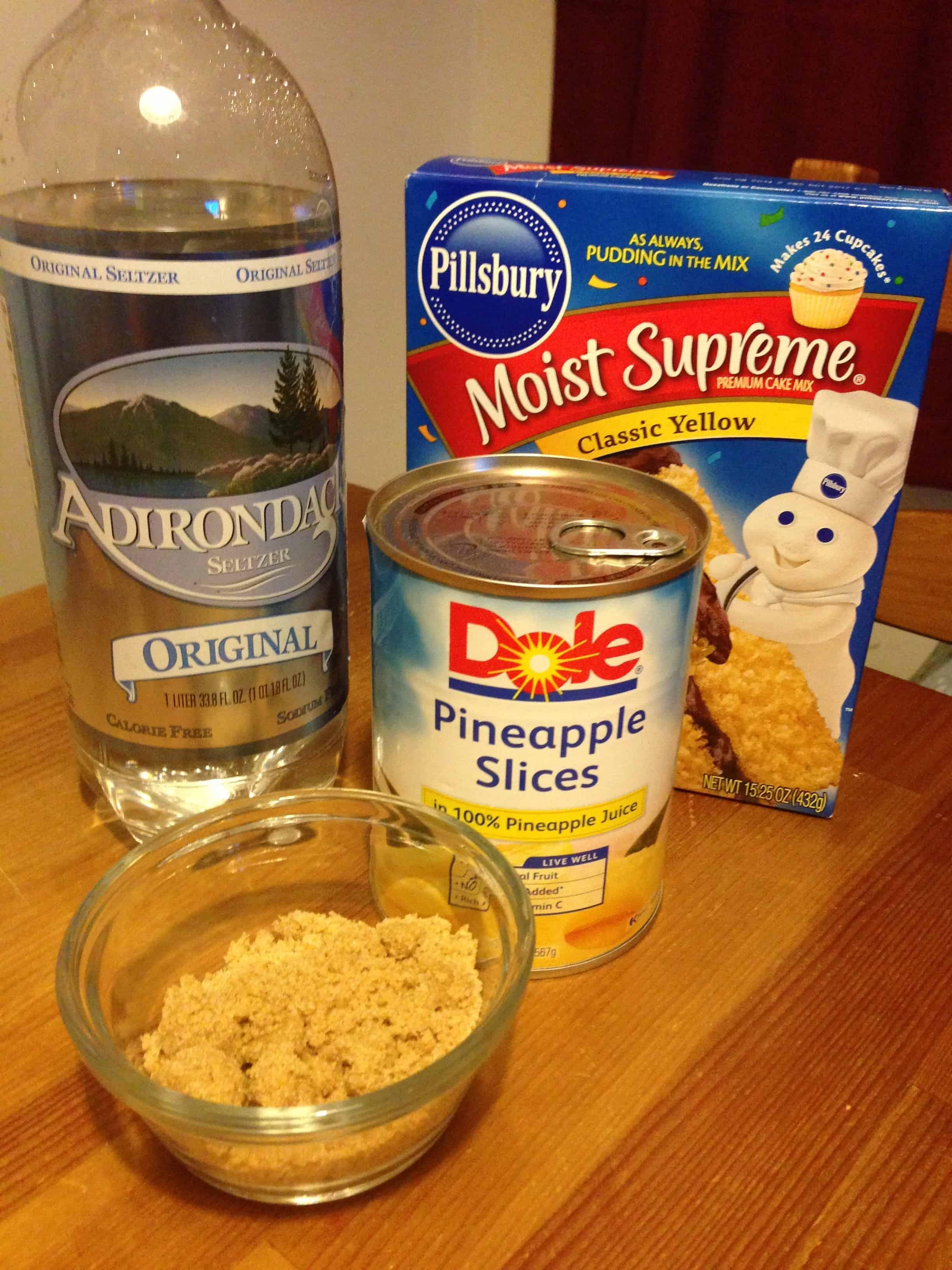 pineapple cake, no eggs, ingredients,