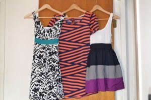 spring dresses. spring trends, black and white, stripes, mod cloth, Ann Taylor