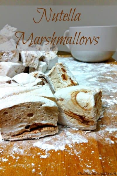 Check out this super simple recipe for homemade Nutella Marshmallows. These delectable treats make a great present!