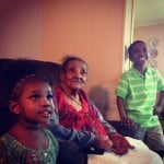 Great-Grandmother and kids