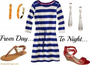 Memorial Day outfit, day to night outfit