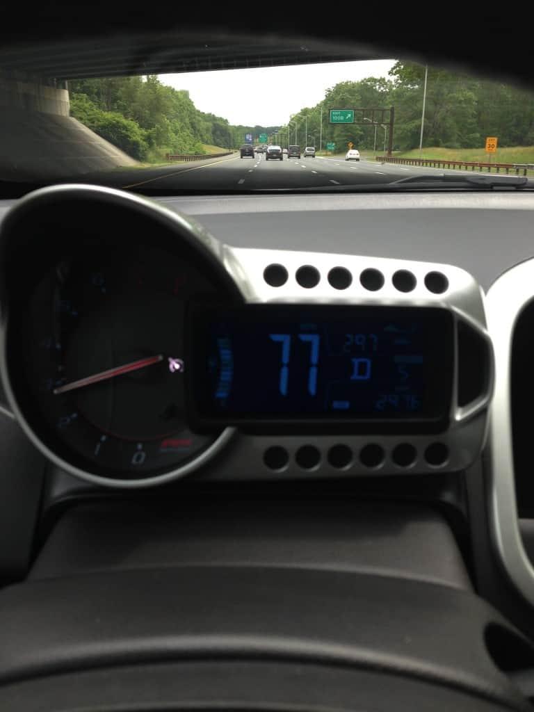 chevy sonic, speedometer