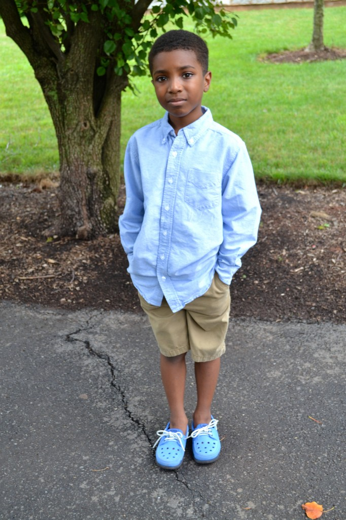 back-to-school thrift outfit for kids