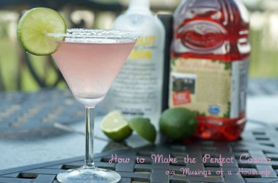 Summer cocktails, the perfect cosmo
