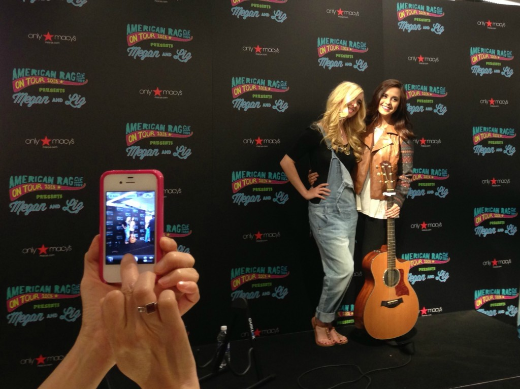 Megan and Liz at Macy's Paramus