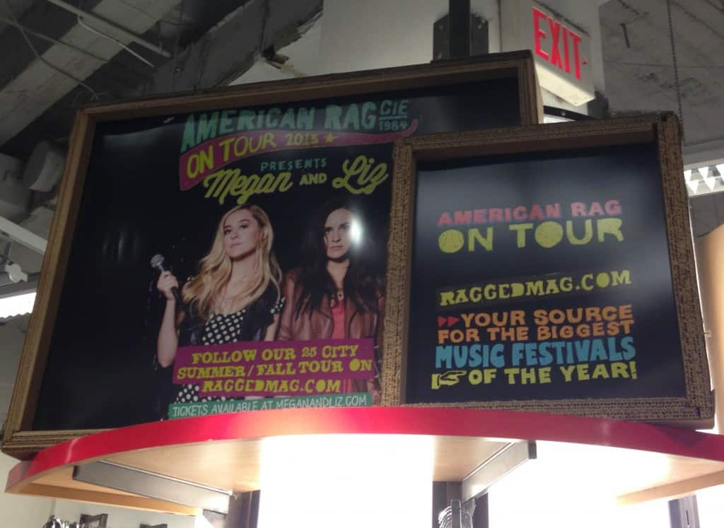 Singing duo Megan and Liz on the Ragged Mag tour