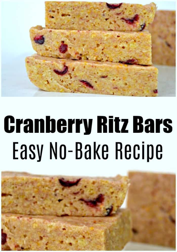 Looking for a way to use up that cheap canned cranberry sauce? These cranberry ritz bars are a no bake cranberry dessert, that's easy and so good.