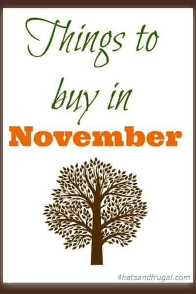 things to buy in November