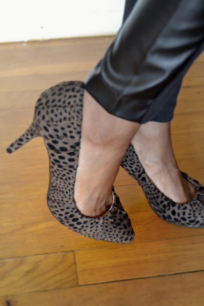 leopard pumps from JustFab