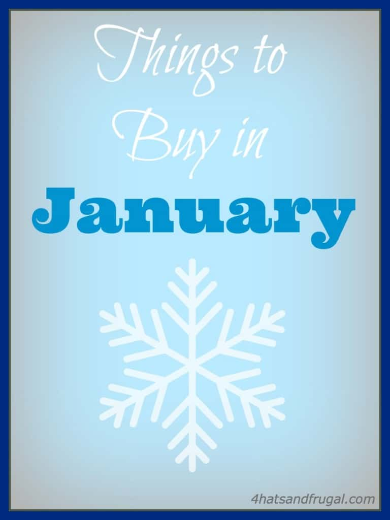 things to buy in January for less