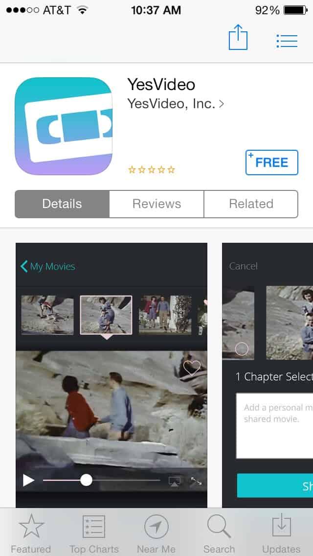 YesVideo app